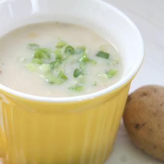 Instant Pot Potato, Leek and Bacon Soup.
