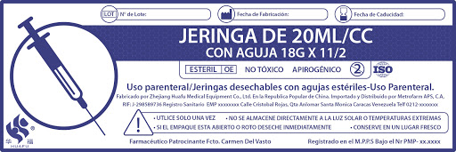 jeringa 20cc 18g 1/2 luer lock