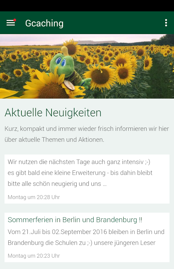 Gcaching-Online.de Berlin – Screenshot