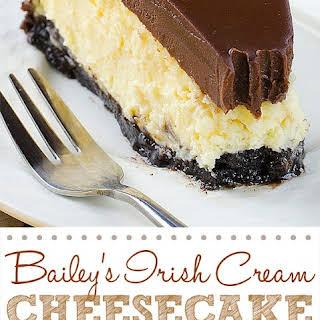Bailey's Irish Cream Cheesecake.