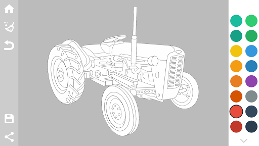 Tractors Coloring Pages Game 1.6 screenshots 8