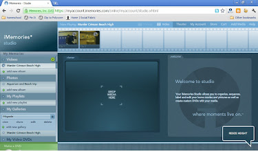 Photo: you can rearrange video clips or mix and match media together in the studio.