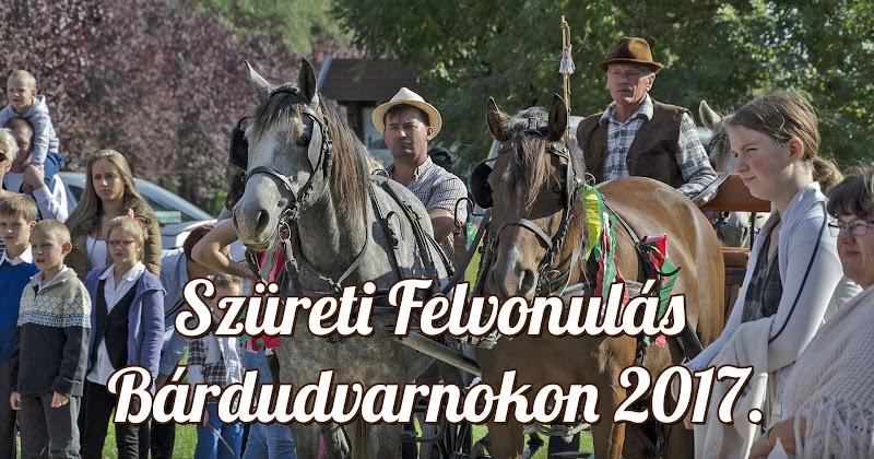 Szüreti Felvonulás Bárdudvarnokon 2017.