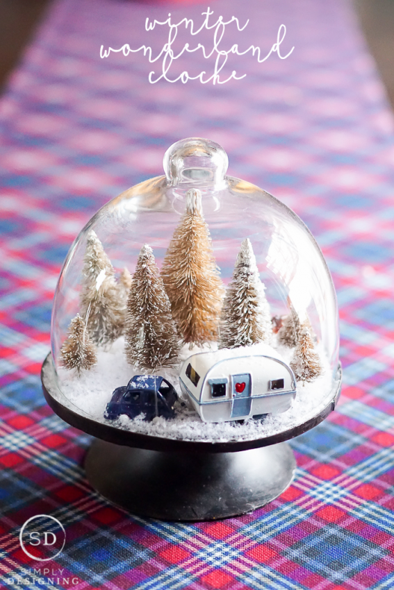 Simply Design_DIY Winter Wonderland Cloche