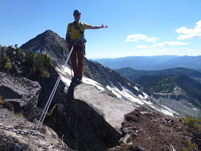 Photo: Enjoying the scenery from the Fingerboard Rappel