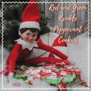 Elf Red and Green Peppermint Cookie.