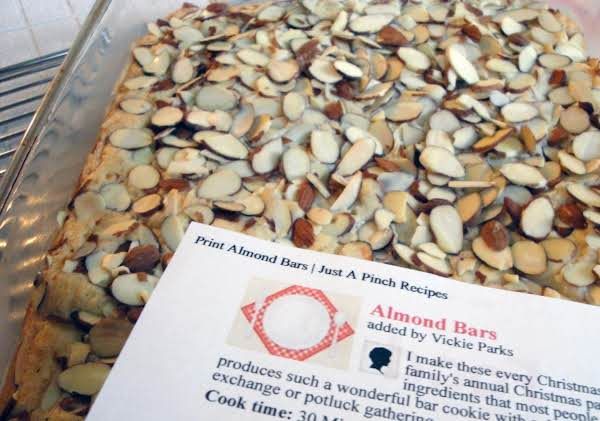 Almond Bars Recipe