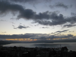 Photo: Low cloud over Wellington Harbour, 22 May 2011
