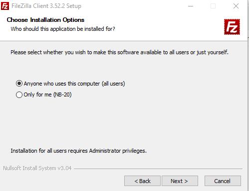 Cara Install FileZilla image 2