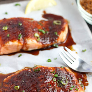 Roasted Salmon with Spiced Brown Sugar.