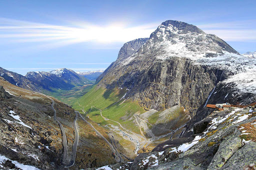 Norway-Trollstigen - Trollstigen is a famous Norwegian road known for its twists and turns.