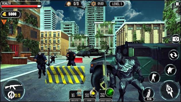 Panther SuperHero Shooting Battle VS Mafia Gangs apk screenshot
