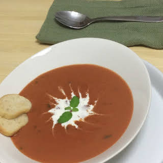 Creamy Tomato-Basil Bisque.