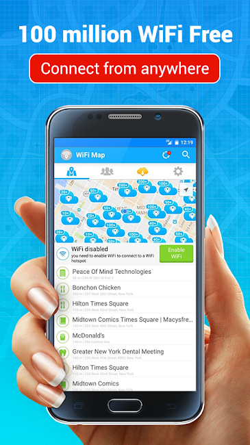 #1. WiFi Map — Free Passwords (Android)