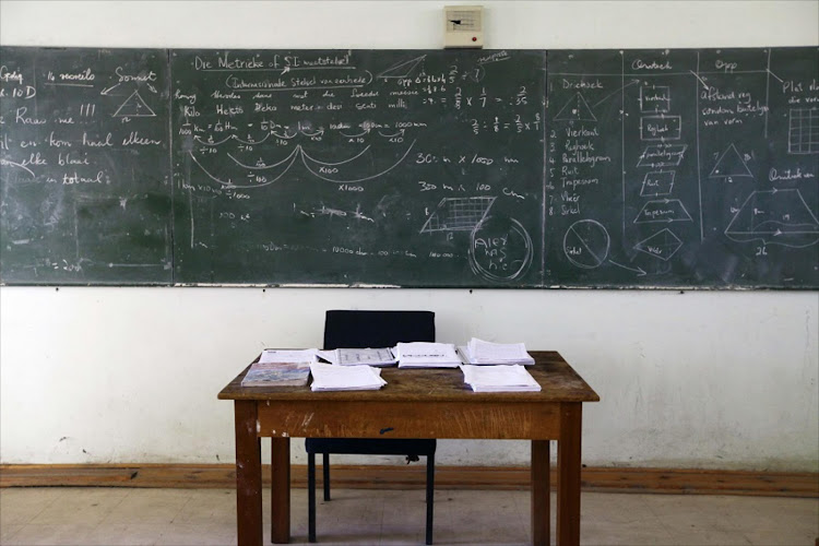 School teacher's desk. Picture: THE TIMES