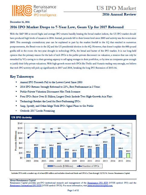 2016 US IPO Annual Review