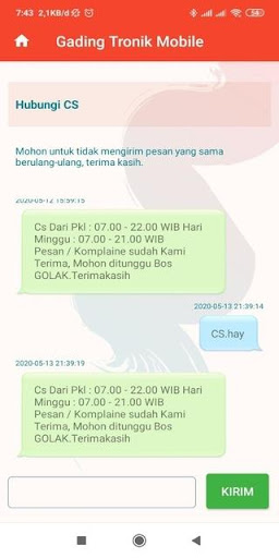 gading tronik mobile screenshot 2