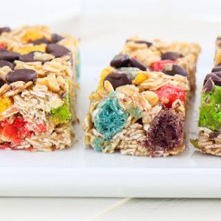 Rainbow Crunch Chocolate Chip Granola Bars