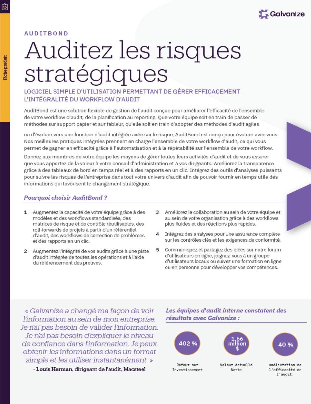 Auditez les risques stratégiques