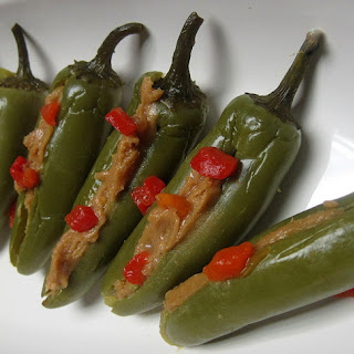 Pickled Jalapenos Stuffed with Peanut Butter Recipe