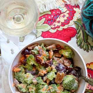 Broccoli Salad With Grapes And Pecans