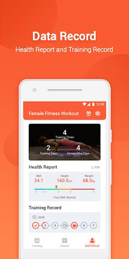 Female Fitness Workout screenshot 5