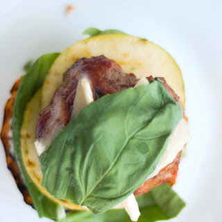 Brie, Basil and Hickory Burgers