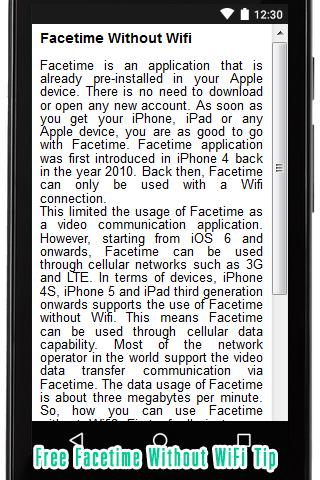 Free Facetime without WiFi Tip