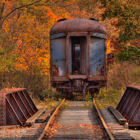 Retired passenger car at CASS Scenic Railway in West Virginia by Rick Lombardo - Transportation Trains