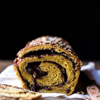 Pumpkin Chocolate Cinnamon Swirl Brioche Bread.