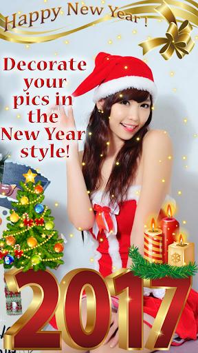 新年快樂圖片編輯器 - 照片合成軟體 與 貼紙 和 照片特效