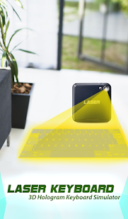 Hologram Keyboard 3D Simulated - náhled