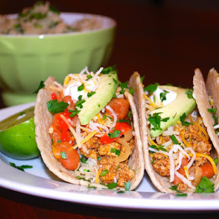 Turkey Tacos with Cilantro Lime Brown Rice