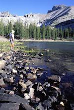 Photo: Hiker, Stella Lake, Great Basin National Park, Nevada