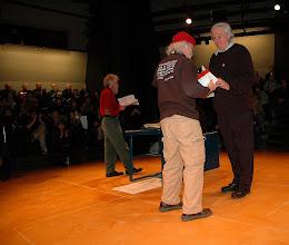 Photo: Bruce Berry, Vietnam Veteran, receiving on behalf of Colonel (ret.) Ann Wright