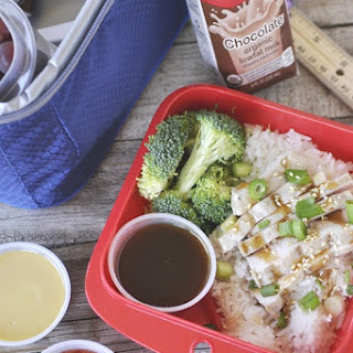 Teriyaki Chicken Bento Box with Dipping Sauces #HorizonB2S