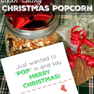 Clean Eating Christmas Popcorn