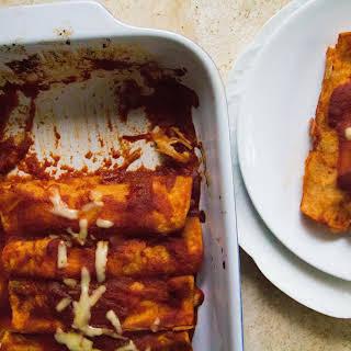 Sweet Potato, Monterey Jack & Manchego Enchiladas.