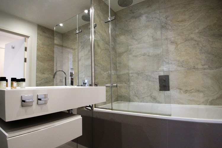 Bathroom at Dance Square serviced apartments