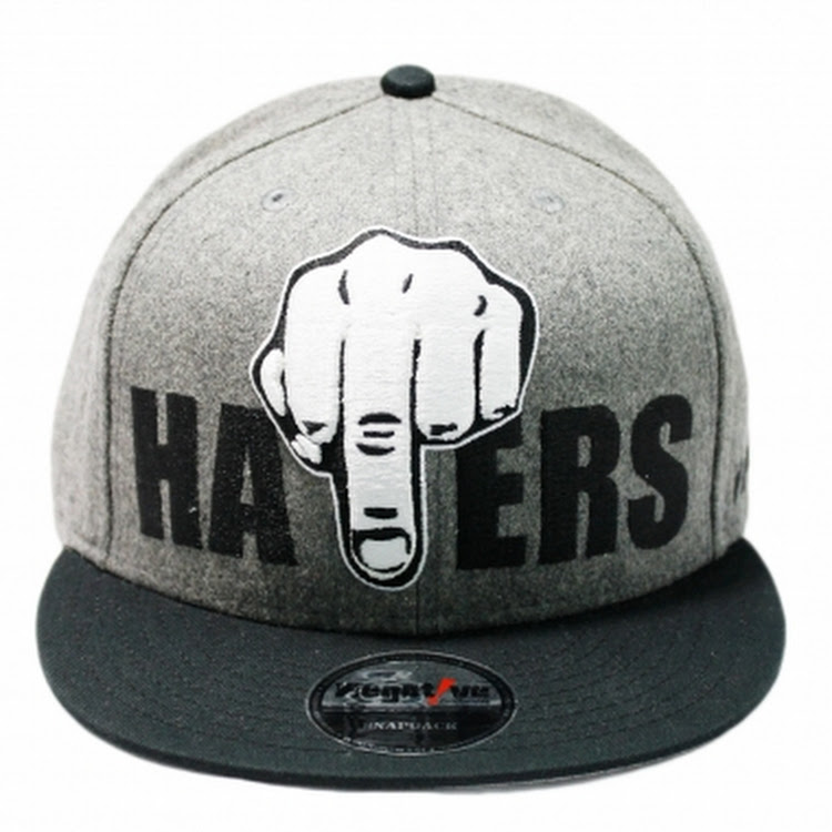 NEGATIVE HATERS SNAPBACK-GY by The Cap City