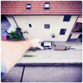 Playing by Sasa Lazic - City,  Street & Park  Neighborhoods ( idea, ts, color, square, fake )