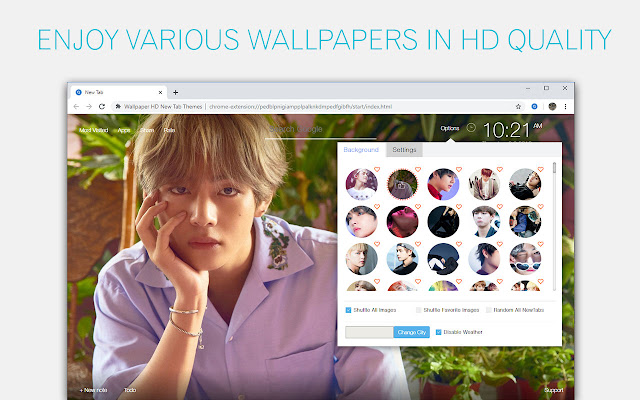 Bts V Kim Taehyung Wallpaper Custom New Tab