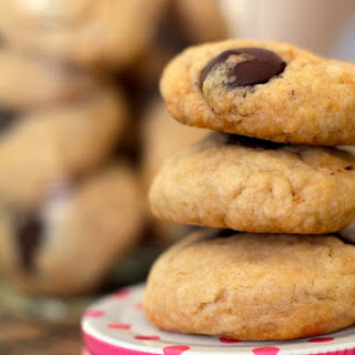 Easy, Healthy Peanut Butter Chocolate Chip Cookies.