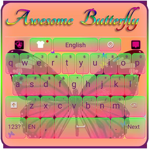 Colorful Butterfly Keyboard 個人化 App LOGO-硬是要APP