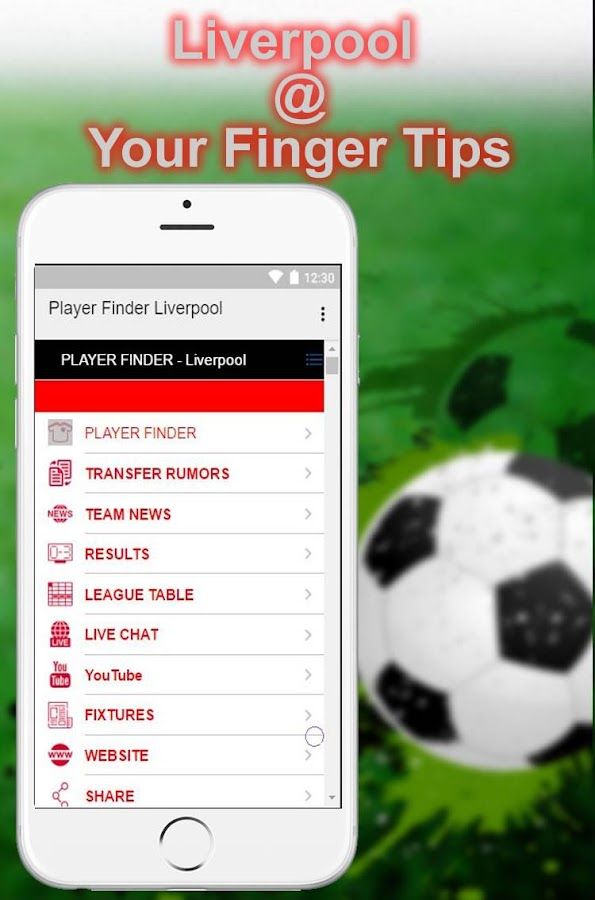 PlayerFinder Liverpool Edition- screenshot