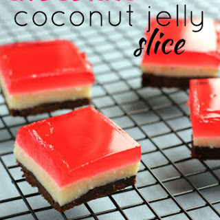 Chocolate Coconut Jelly Slice