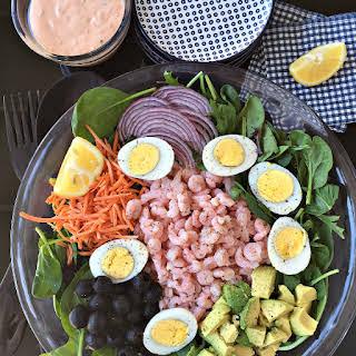 Classic Shrimp Salad with Thousand Island Dressing.