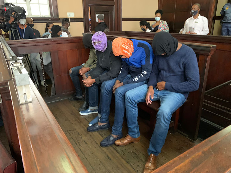 Four police officers from the public order policing unit appeared at the Johannesburg magistrate's court on March 17 2021 in connection with the death of Mthokozisi Ntumba.