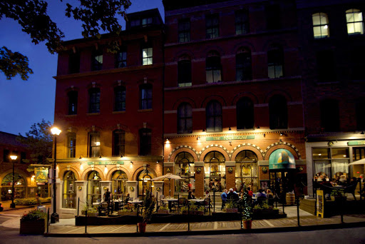 Halifax-night-TheOldTriangle.jpg - A three-room concept — Tigh an Cheoil (house of music), the Pourhouse and the Snug — comprise the Old Triangle Irish Alehouse in Halifax, Nova Scotia.