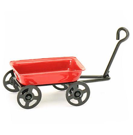 Minivagn röd, 3,5 cm x 2,5 cm